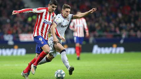 Atletico Madrid berhasil meraih kemenangan tipis 2-1, saat bertandang ke markas Levante dalam laga lanjutan Liga Spanyol pekan ke-19, di Wanda Metropolitano, Minggu (05/01/20) dini hari WIB. - INDOSPORT