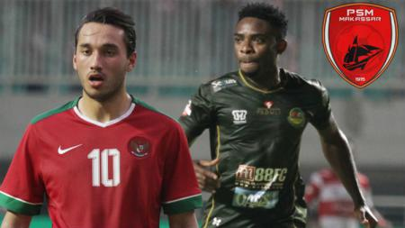 Dua striker naturalisasi, Osas Saha dan Ezra Walian kemungkinan akan bertarung di lini depan PSM Makassar pada Liga 1 2020 mendatang. - INDOSPORT