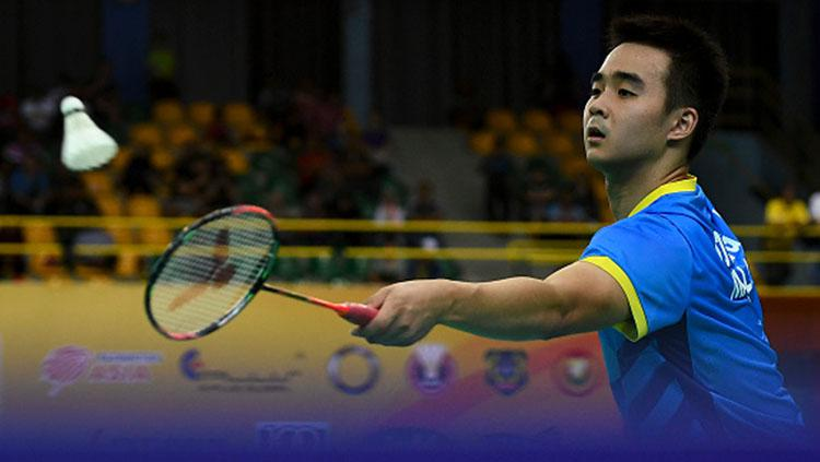 Soong Joo Ven (Malaysia) saat pertandingan melawan Qiao Bin di ajang Kejuaraan Dunia Asia 2018 Copyright: Robertus Pudyanto/Getty Images