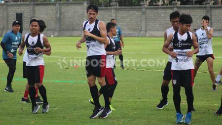Latihan klub Liga 1 Bali united. - INDOSPORT