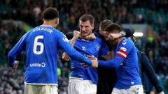 Indosport - Bek Glasgow Rangers, Borna Barisic (tengah), tak sabar berlaga di babak 32 besar Liga Europa.