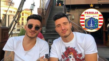 Vanja Markovic dan Ivan Markovic, pemain kembar asal Serbia yang dirumorkan ke klub Liga1 Persija Jakarta. - INDOSPORT