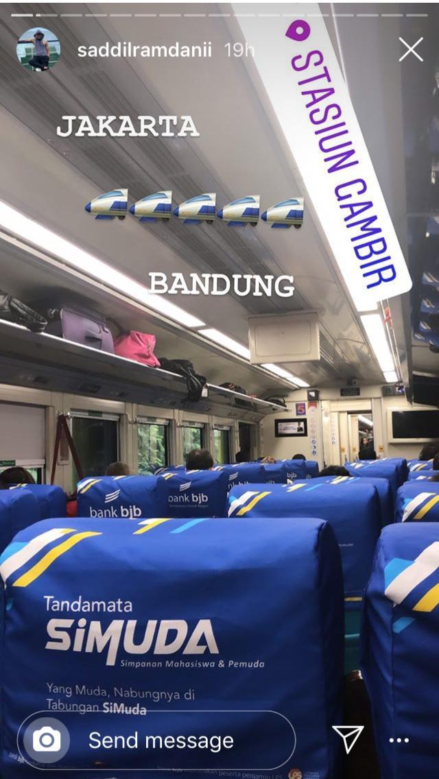 Saddil Ramdani menuju Bandung Copyright: Instagram Saddil Ramdani