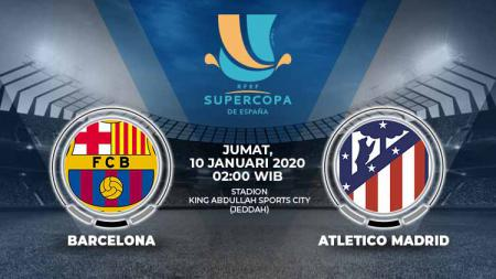 Berikut prediksi pertandingan antara Barcelona vs Atletico Madrid di ajang Piala Super Spanyol, Jum'at (10/01/20) dinihari WIB. - INDOSPORT