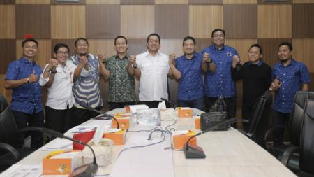 Jajaran Manajemen klub Liga 1 PSIS saat bertemu Pemerintah Kota Semarang untuk membahas Stadion Citarum menjelang Liga 1 2020. - INDOSPORT