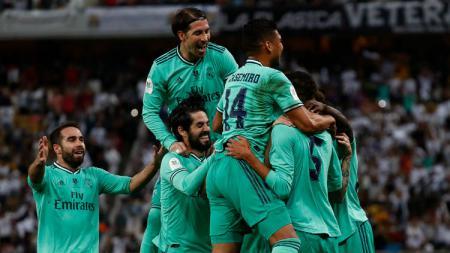 Real Madrid harus siap menghadapi perlawanan mantan pemainnya, Marcos Llorente, di final Piala Super Spanyol, Senin (13/01/20). - INDOSPORT