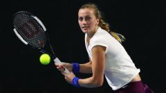 Indosport - Petra Kvitova kala bertanding di turnamen tenis Brisbane International 2020.