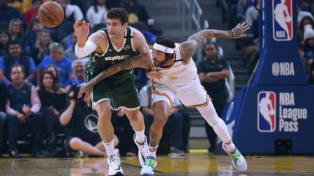 Laga NBA antara Milwaukee Bucks vs Golden State Warriors, Kamis (09/01/20). - INDOSPORT