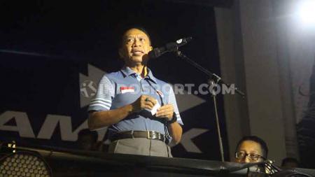 Menpora Zainuddin Amali mengapresiasi inisiatif Pemerintah Kabupaten Gorontalo yang membangun sirkuit balap di Bongohulawa, Kabupaten Gorontalo. - INDOSPORT