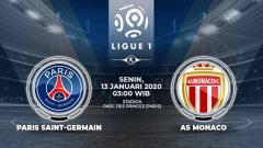 Indosport - Pertandingan antara Paris Saint-Germain vs AS Monaco (Ligue 1).