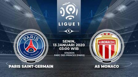 Pertandingan antara Paris Saint-Germain vs AS Monaco (Ligue 1). - INDOSPORT