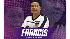 Indosport - Asisten pelatih Persita Tangerang, Francis Wawengkang, direkrut untuk Liga 1 2020.