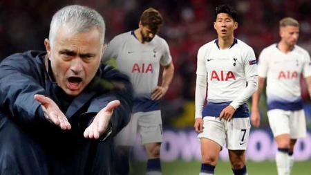 Jose Mourinho gagal buat Tottenham Hotspur melenggang ke babak lanjutan Liga Champions usai ditekuk RB Leipzig. Siapa sangka ada andil dua pemain yang jadi borok tim. - INDOSPORT