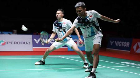 Pebulutangkis ganda putra, Fajar Alfian mengaku mendapat banyak hujatan serta masukan usai tumbang di babak semifinal Malaysia Masters 2020. - INDOSPORT