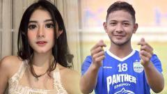 Indosport - Pedangdut cantik Ghea Youbi dan pemain Persib Bandung, Gian Zola, semakin tak canggung memamerkan kemesraan mereka berdua.