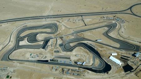 Pemandangan Sirkuit Dubai Autodrome di Uni Emirat Arab dari udara. - INDOSPORT
