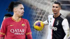 Indosport - Pertandingan Serie A Italia giornata ke-19 antara AS Roma vs Juventus akan diwarnai duel eks Manchester United yaitu Chris Smalling dan Cristiano Ronaldo.
