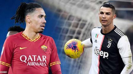 Pertandingan Serie A Italia giornata ke-19 antara AS Roma vs Juventus akan diwarnai duel eks Manchester United yaitu Chris Smalling dan Cristiano Ronaldo. - INDOSPORT