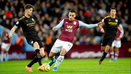 Situasi pertandingan pekan ke-22 Liga Inggris antara Aston Villa vs Manchester City, Minggu (12/01/20). - INDOSPORT