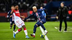 Indosport - Situasi pertandingan Ligue 1 Prancis antara PSG vs AS Monaco
