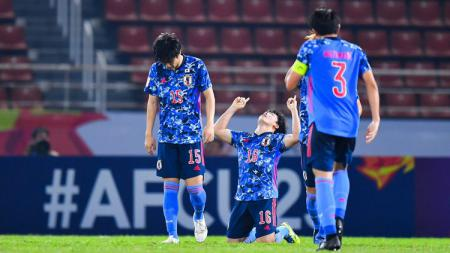 Bintang timnas Jepang U-23, Mitsuki Saito, mengaku malu usai timnya kalah dari Suriah U-23 di fase penyisihan grup Piala Asia U-23 2020. - INDOSPORT