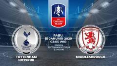 Indosport - Berikut prediksi pertandingan Piala FA 2019-2020 antara Tottenham Hotspur vs Middlesbrough, Rabu (15/01/20) WIB
