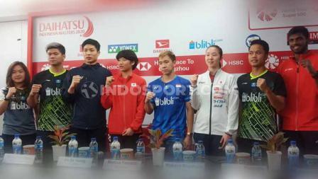 Para pebulutangkis yang akan bertanding di Indonesia Masters 2020.