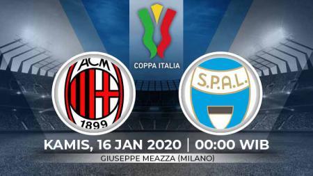 Prediksi pertandingan babak 16 besar Coppa Italia antara AC Milan vs SPAL. - INDOSPORT