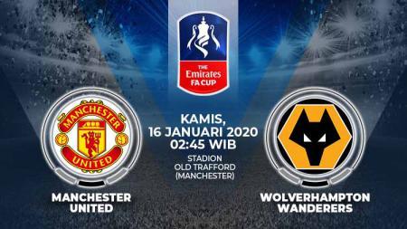 Berikut prediksi pertandingan antara Manchester United vs Wolverhampton Wanderers pada partai ulang putaran ketiga Piala FA 2019-2020 - INDOSPORT