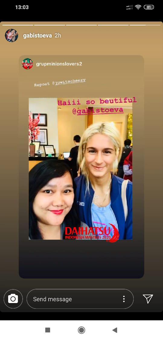 Ikut Indonesia Masters, Netizen Langsung Kepincut dengan Kecantikan Mantan Marcus Gideon Copyright: instagram.com/gabistoeva