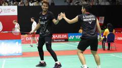 Indosport - Duet anyar dengan Apriyani Rahayu di Indonesia Masters 2020, pebulutangkis Tontowi Ahmad terkenang dengan juniornya, Winny Oktavina Kandow.