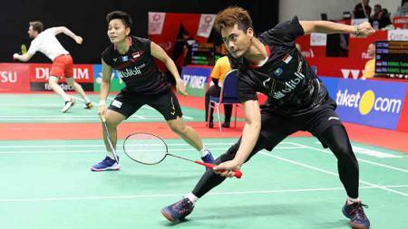Ganda campuran Indonesia nampaknya tak terlalu bagus usai semua tersingkir di Indonesia Masters 2020, khususnya pasangan baru, Tontowi Ahmad/Apriyani. - INDOSPORT