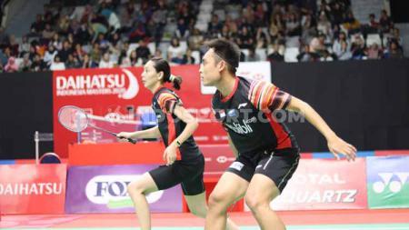 Pasangan Hafiz Faizal/Gloria Emanuelle Widjaja berhasil melaju ke babak kedua Thailand Masters 2020 usai Nitiphon Phuangphuapet/Savitree Amitrapai mundur. - INDOSPORT