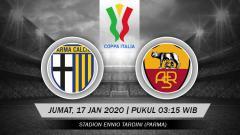 Indosport - Berikut prediksi pertandingan babak 16 besar Coppa Italia antara Parma vs AS Roma, Jumat (17/01/20).