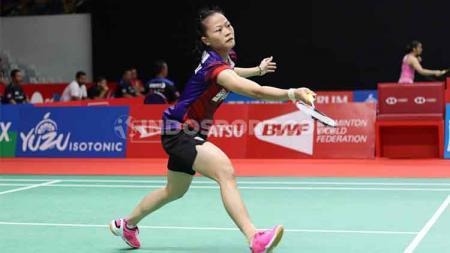 Termasuk tunggal putri Fitriani, belasan nama atlet bulutangkis peserta pelatnas 2020 harus dicoret oleh PBSI untuk pelatnas tahun 2021 ini. - INDOSPORT