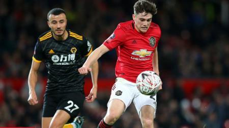 Aksi Pemain Manchester United Saat Berhadapan dengan Wolverhampton di Piala FA - INDOSPORT