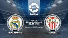 Indosport - Berikut prediksi pertandingan LaLiga Spanyol pekan ke-20 antara Real Madrid vs Sevilla di Stadion Santiago Bernabeu, Sabtu (18/01/20) pukul 22.00 WIB malam.