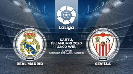 Berikut prediksi pertandingan LaLiga Spanyol pekan ke-20 antara Real Madrid vs Sevilla di Stadion Santiago Bernabeu, Sabtu (18/01/20) pukul 22.00 WIB malam. - INDOSPORT