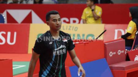 Tommy Sugiarto di Indonesia Masters 2020 melawan Anthony Sinisuka Ginting, Kamis (16/01/20). - INDOSPORT