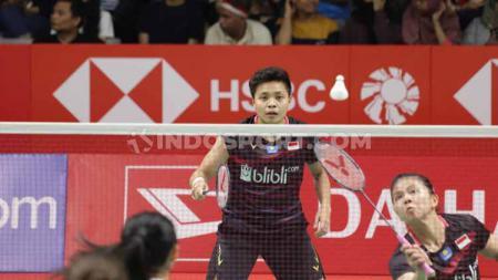 Penampilan Greysia Polii/Apriyani Rahayu di Indonesia Masters 2020, Kamis (16/01/20). - INDOSPORT