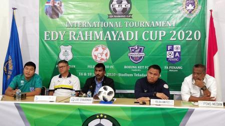 Jumpa pers Edy Rahmayadi Cup 2020. - INDOSPORT