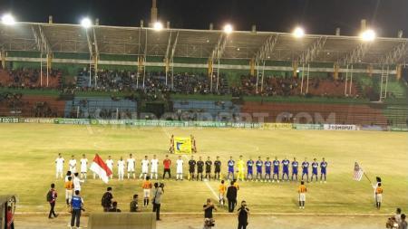 Pembukaan Edy Rahmayadi Cup di Stadion Teladan, Medan, Kamis (16/1/2020) malam. - INDOSPORT