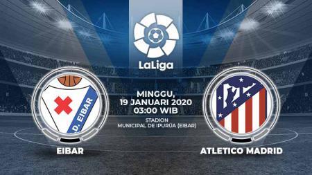 Pertandingan antara Eibar vs Atletico Madrid (La Liga). - INDOSPORT