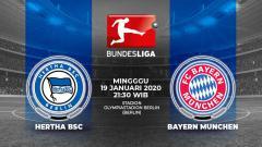 Indosport - Berikut prediksi pertandingan antara Hertha Berlin vs Bayern Munchen dalam lanjutan Bundesliga Jerman 2019-2020 pekan ke-18.