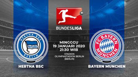 Berikut prediksi pertandingan antara Hertha Berlin vs Bayern Munchen dalam lanjutan Bundesliga Jerman 2019-2020 pekan ke-18. - INDOSPORT