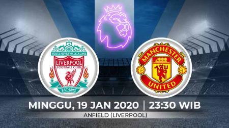 Berikut link live streaming big match pertandingan sepak bola Liga Inggris pada pekan ke-23 antara Liverpool vs Manchester United. - INDOSPORT