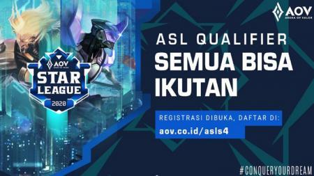 Garena Indonesia kembali menggelar turnamen Arena of Valor (AOV) Star League Season 4. - INDOSPORT