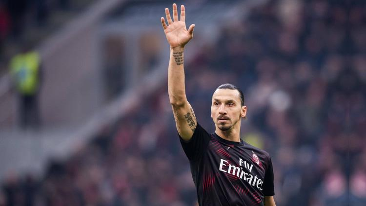 Striker AC Milan Zlatan Ibrahimovic. Copyright: Twitter/@_owurakuampofo