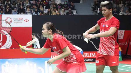 Ganda campuran Prancis, Thom Gicquel/Delphine Delrue, kalahkan Praveen Jordan/Melati Daeva Oktavianti di perempatfinal Indonesia Masters 2020, Jumat (17/01/20). - INDOSPORT
