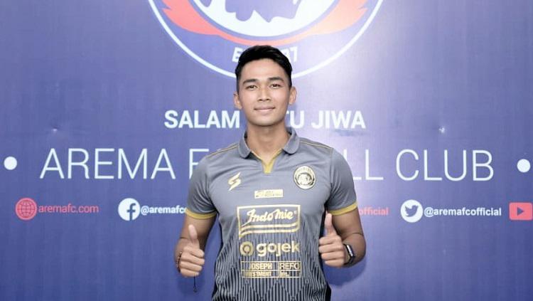 Bek anyar Arema FC, Bagas Adi Nugroho, siap memperkuat tim di Liga 1 2020. Copyright: Media Arema FC